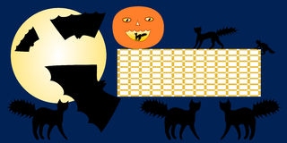 Halloween school timetable Royalty Free Stock Images