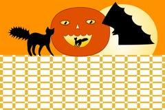 Halloween-schooltijdschema stock illustratie