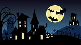 Halloween-scène Royalty-vrije Stock Foto