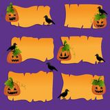Halloween scrapbook design elements Royalty Free Stock Photo