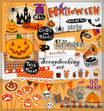 Halloween scrapbook elements Stock Photography