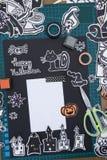 Halloween Scrapbook layout Stock Photos