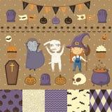 Halloween scrapbook set Stock Images