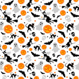 Halloween seamless background. Seamless background with Halloween content Royalty Free Stock Image