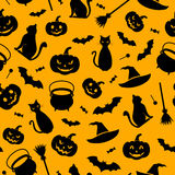 Halloween seamless background. stock illustration