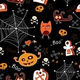 Halloween seamless background. Stock Photos