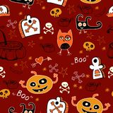 Halloween seamless background. For children Royalty Free Stock Image