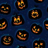 Halloween seamless background 6 Royalty Free Stock Images