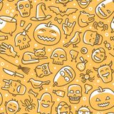 Halloween, seamless background. Holiday concept. Vector illustration Stock Images