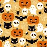 Halloween Seamless Background Stock Photo