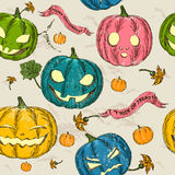 Halloween seamless background with pumpkin. Royalty Free Stock Photos