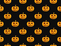 Halloween seamless background with pumpkin. For wallpaper, bed l Stock Photography