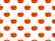 Halloween seamless background with pumpkin. For wallpaper, bed linen, tiles, fabrics, backgrounds. Royalty Free Stock Photography