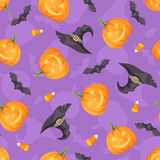 Halloween seamless background. Vector illustration. stock illustration