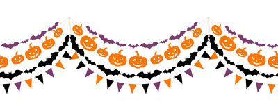 Halloween seamless garland. Royalty Free Stock Photo