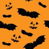 Halloween_seamless_orange lizenzfreie abbildung