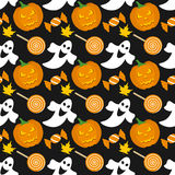 Halloween Seamless Pattern [1]. A colorful Halloween seamless background, useful also as design element for texture, pattern or giftwrap. Eps file available Royalty Free Stock Images