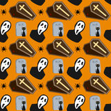 Halloween Seamless Pattern [2]. A colorful Halloween seamless background, useful also as design element for texture, pattern or giftwrap. Eps file available Stock Image