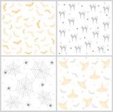 Halloween seamless pattern stock illustration