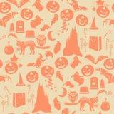 Halloween seamless pattern Stock Photo