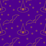 Halloween seamless pattern background. Royalty Free Stock Photos