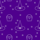 Halloween seamless pattern background. Stock Photo