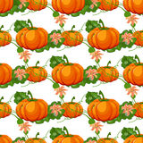 Halloween seamless pattern. Background with pumpkin. Stock Photo