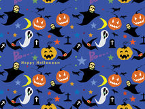 Halloween Seamless Pattern Background : Vector Illustration. Stock Images