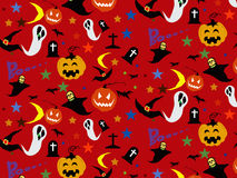 Halloween Seamless Pattern Background : Vector Illustration. Royalty Free Stock Images