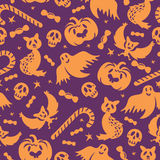 Halloween seamless pattern Stock Images