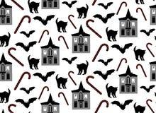 Halloween seamless vector pattern vector illustration