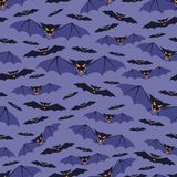Halloween seamless pattern with bats Royalty Free Stock Images