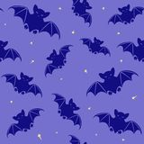Halloween seamless pattern with bats Stock Image