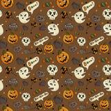 Halloween seamless pattern royalty free illustration