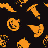 Halloween seamless pattern. Stock Images