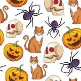 Halloween  seamless pattern design. Royalty Free Stock Photo