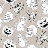 Halloween  seamless pattern design. Stock Images