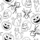 Halloween  seamless pattern design. Royalty Free Stock Photos