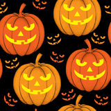 Halloween seamless pattern with dotted pumpkins in orange Royalty Free Stock Photo