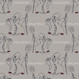 Halloween seamless pattern  with ghost Royalty Free Stock Images