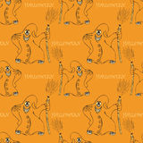 Halloween seamless pattern  with ghost Stock Images
