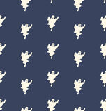 Halloween Seamless Pattern with Ghosts Royalty Free Stock Photo