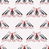 Halloween seamless pattern Royalty Free Stock Image