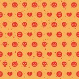 Halloween seamless pattern. Stock Photo