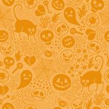 Halloween seamless pattern. Royalty Free Stock Photos