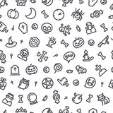 Halloween Seamless Pattern With Icons Royalty Free Stock Images