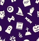 Halloween Seamless Pattern Stock Image