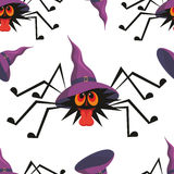 Halloween seamless pattern. With the image of the perky spider Stock Photography