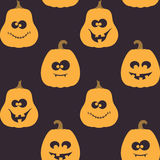 Halloween seamless pattern with pumpkins Royalty Free Stock Photography