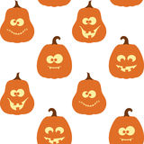Halloween seamless pattern with pumpkins royalty free illustration